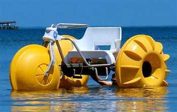 قایق سه چرخه_انواع قایق پدالی در طرح ها و رنگ های متنوع زرین کار