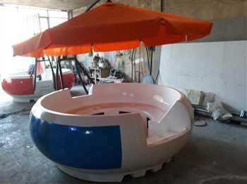 قایق موتوری گرد فایبرگلاس صنایع زرین کار