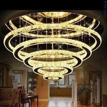 فروش تخصصی لوستر و چراغهای تزیینی با تنوع بیش از 2000 مدل ، انواع لوستر چوبی کریستالی حلقه ای سقفی و ...