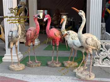 مجسمه فلامینگو | بزرگترین کارخانه تولید مجسمه در ایران | مجسمه سازی مادیا | مجسمه فایبرگلاس | مجسمه پلی استر | مجسمه رزین  |مجسمه فلامینگو بزرگ باغ