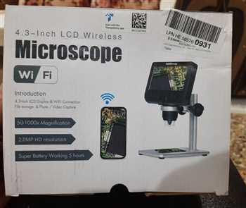 میکروسکوپ وایرلسی دارای صفحه مانیتور مخصوص قابلیت نصب بر روی پایه صفحه مانیتور4.3اینچ زوم پنجاه تا هزار برابر صفحه مانیتور شارژی  قابلیت عکس گرفتن